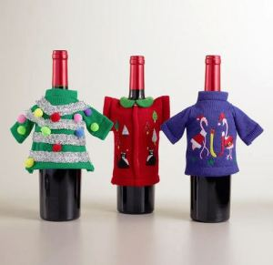 world market ugly sweter wine bottle covers