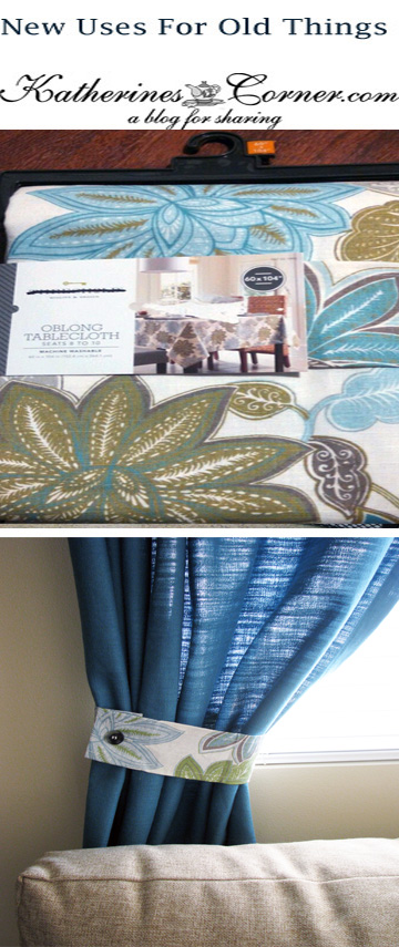 new uses for old things curtain tie backs