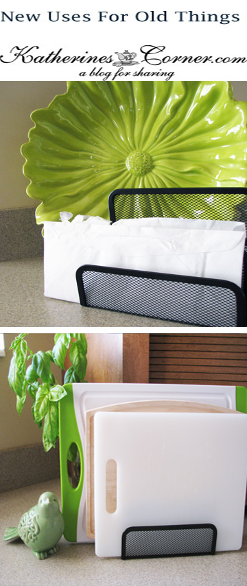 new uses for old things cutting board organizer