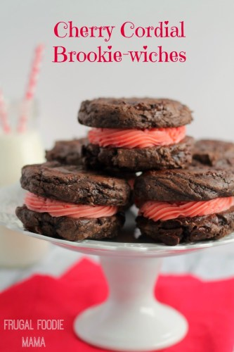 cherry cordial brownie sandwiches