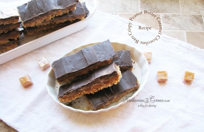 Crispy Peanut Butter Caramel Chocolate Bars