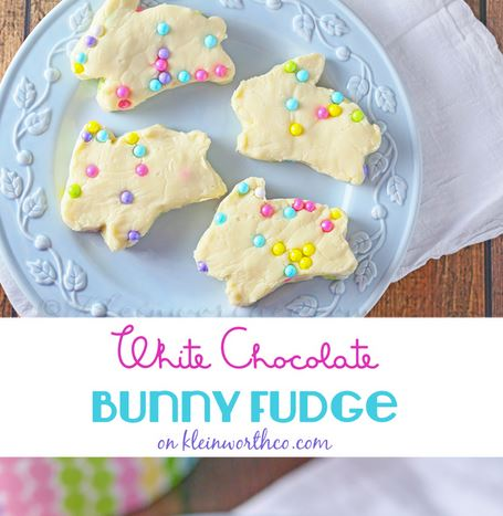 easter bunny fudge