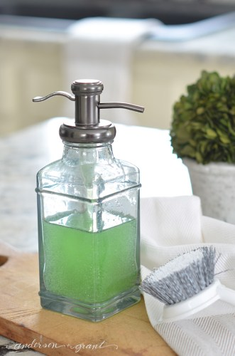 soap dispenser from Target to hold dish deterget
