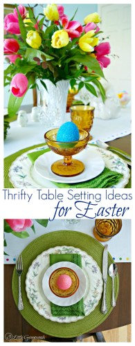 thrifty table scape