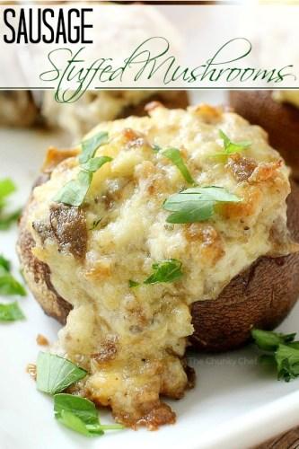 Sausage-and-Cheese-Stuffed-Mushrooms