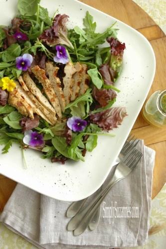 chicken salad with citrus pepper