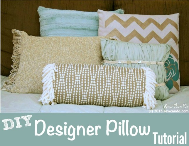 diy designer pillows