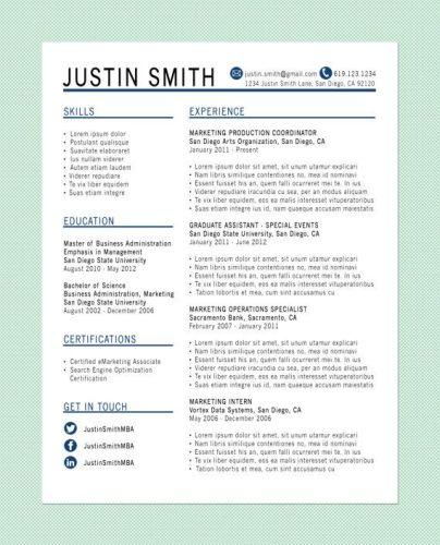 create a memorable resume