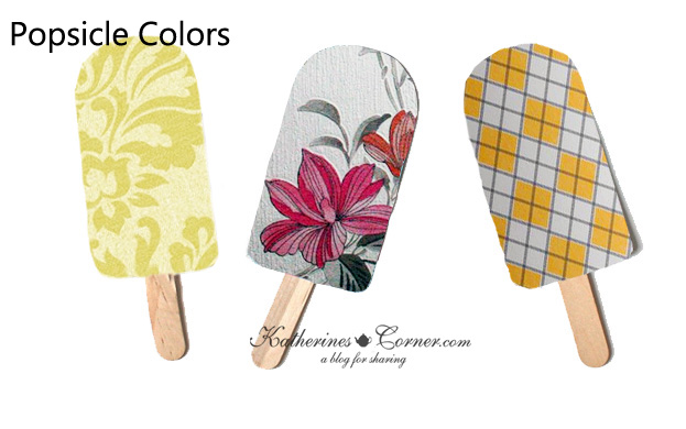 popsicle colors home decor