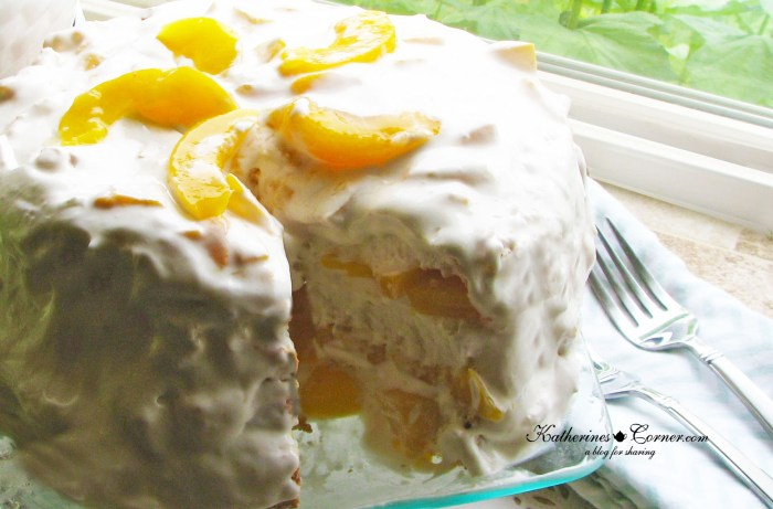 peaches and cream dessert katherines corner