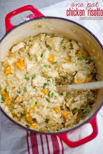 chicken risotto and veggies