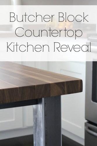butcher clock counter top reveal
