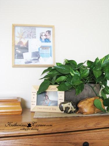 decorating with precious mementos and souveniers