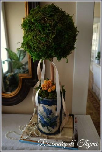 moss topiary diy