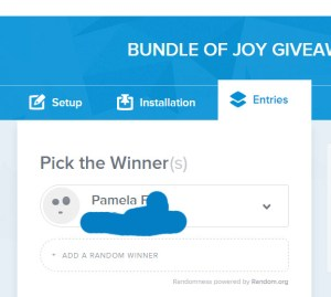 bundle of joy winner