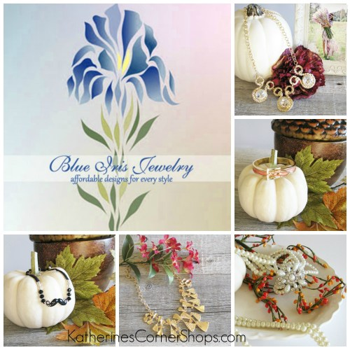 blue iris jewelry