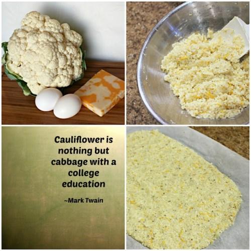 cheesy cauliflower pizza