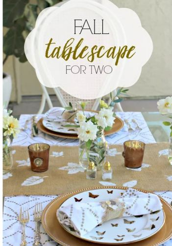 fall tablescape for two