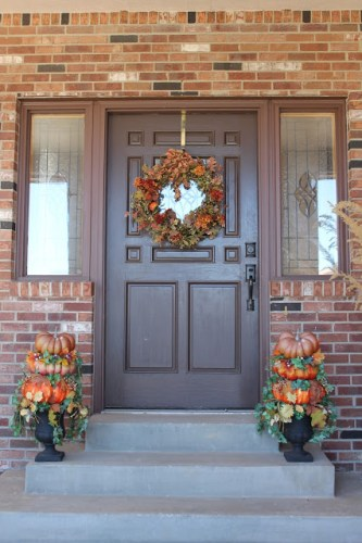 diy upcycle thrifty Autumn front porch decor