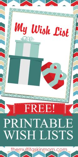 free wish list printables