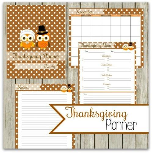 thanksgiving printable planner