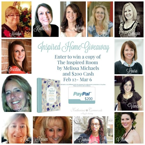 enter to win cash and prize in the inspired home giveaway
