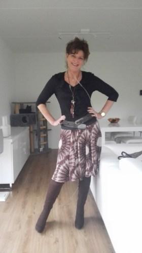 my old brown skirt