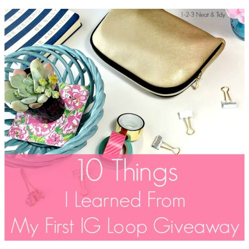 10 things about hosting and Instagram loop giveaway