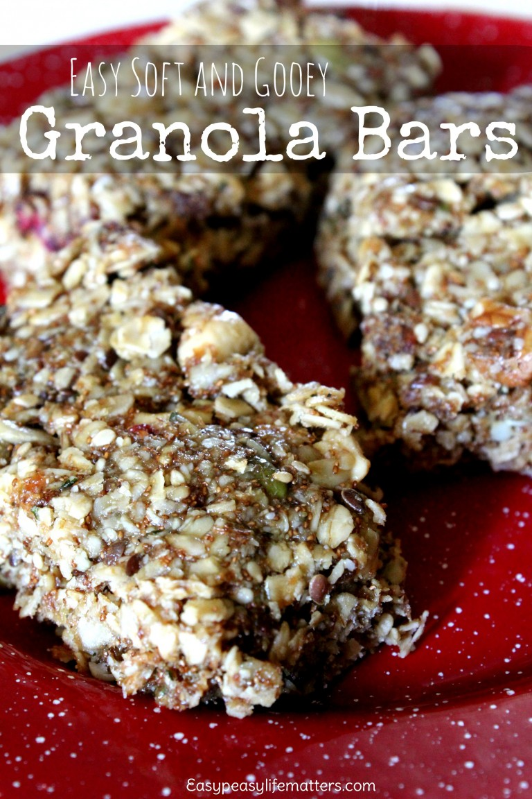 homemade soft granola bars