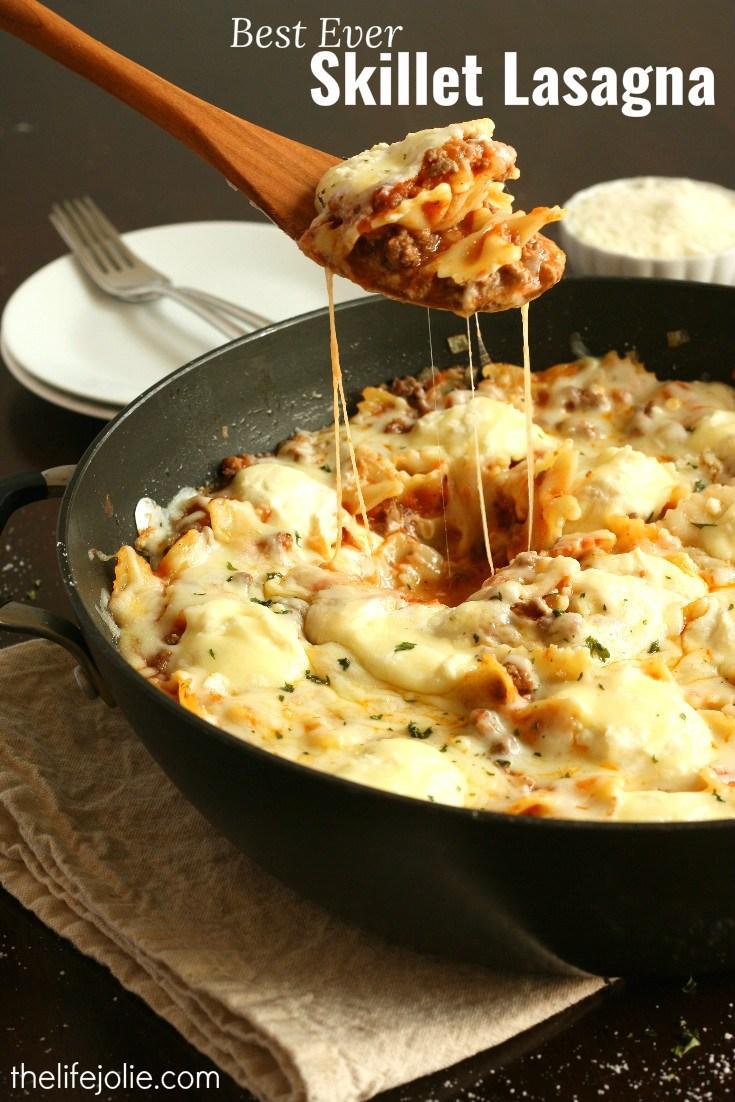 easy one pan meals skillet lasagna