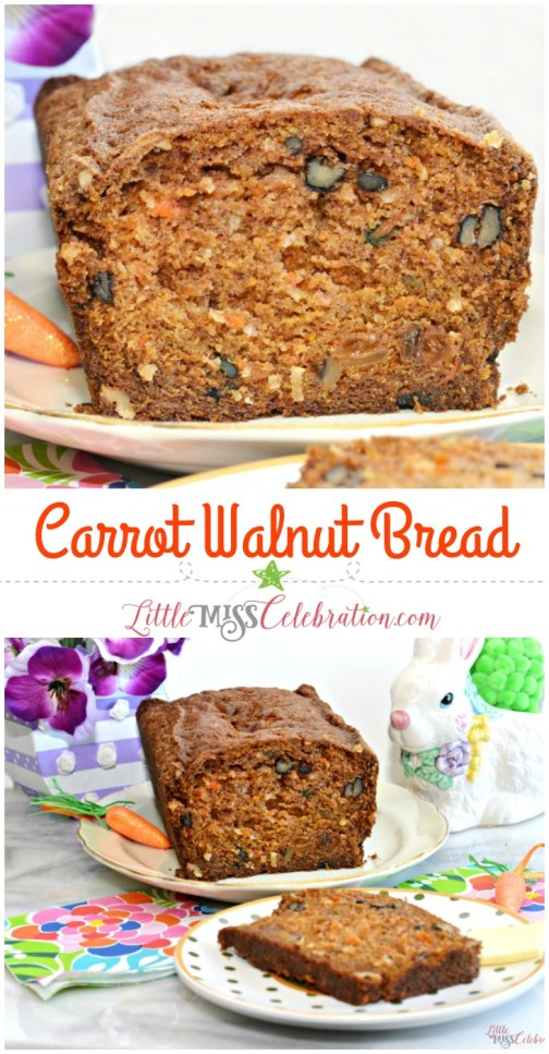 your kids will love to eat their vegetables with this recipe for walnut carrot bread