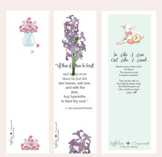 spring bookmarks printable katherines corner