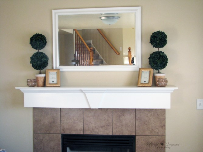 how to style a spring mantel