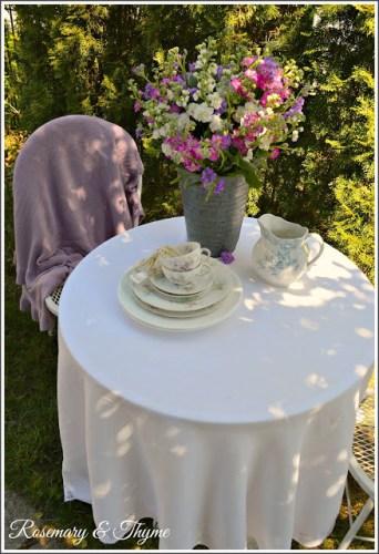 tea time in spring garden