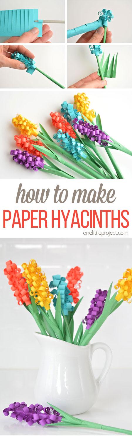 paper hyacinth diy