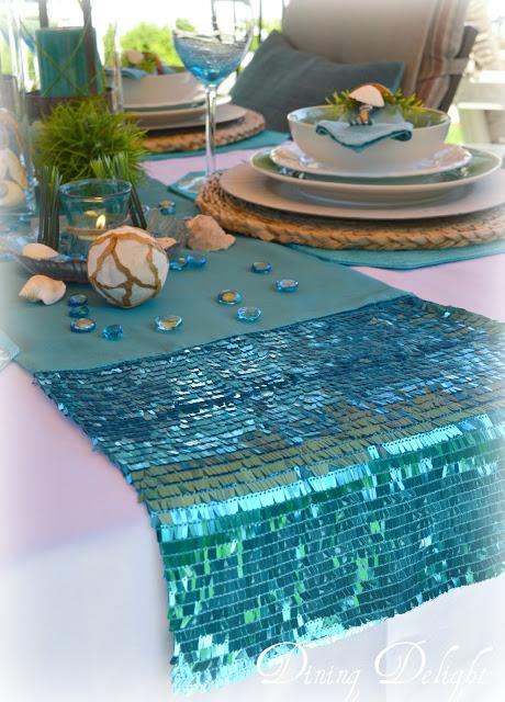 beach theme tablescape