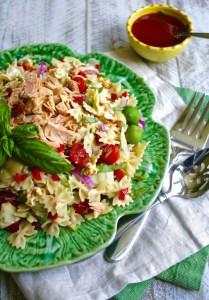tuna and artichoke pasta salad