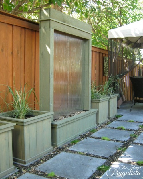 make it monday diy water wall feature