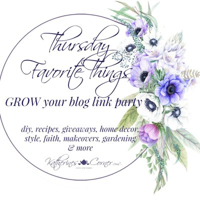 grow your blog at the popular Thursday Favorite Things link party