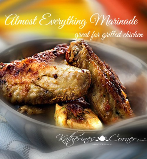 almost everything marinade is great for grilling chicken or fish
