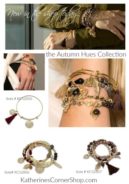 autumn hues bracelets