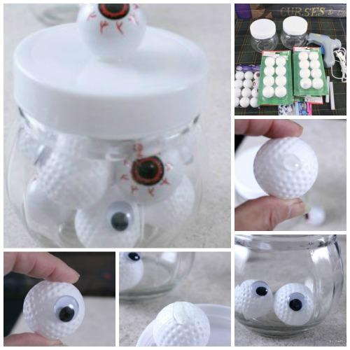 Halloween jar of eyee balls