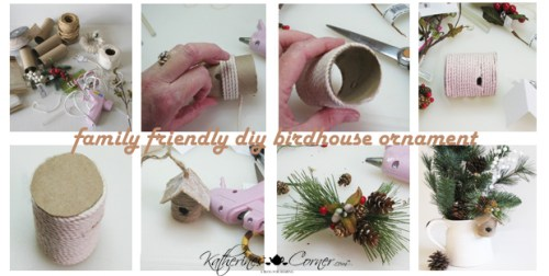 diy birdhouse ornament step by step