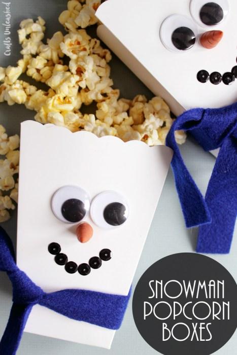 snowman popcorn diy