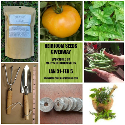 Marys Heirloom Seeds Giveaway