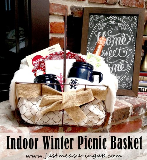 winter picnic basket