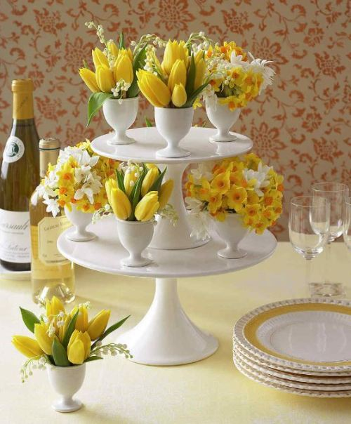 easter buffet decor