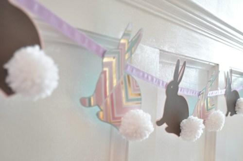 bunny pom pom banner