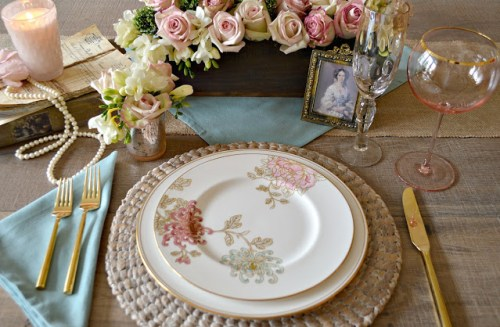victorian inspired tablescape