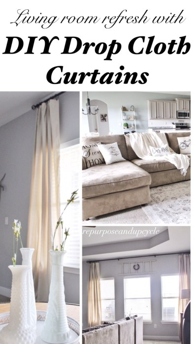 diy dropcloth curtains